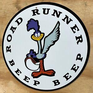 "Nostalgic Road Runner Beep Beep Aluminum Metal Sign 12"" RoadRunner"