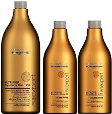LOREAL NUTRIFIER SHAMPOO 1.5 LITRE AND 2 x CONDITIONER 750 ML