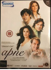 Apne 2 Set DVD Bobby Deol Shilpa Shetty Sunny Deol Indian Hindi Movie Film