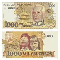 Pick 231b Brasilien / Brazil 1000 Cruzeiros 1990  Unc. / 456583vvv