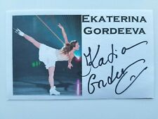 "EKATERINA GORDEEVA ""FIGURE SKATING"" ""OLYMPIC GOLD"" AUTOGRAPHED 3X5 INDEX CARD"