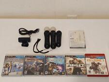 Sony PS3 Move Motion Controllers, Navigation, Eye Camera, Games