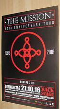 The Mission Tourplakat/Tourposter 2016 neu - Backstage München