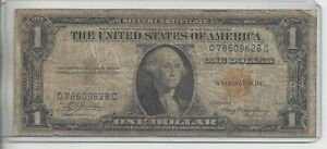 1935 A $1 SILVER CERTIFICATE - YELLOW SEAL NORTH AFRICA EMERGENCY NOTE