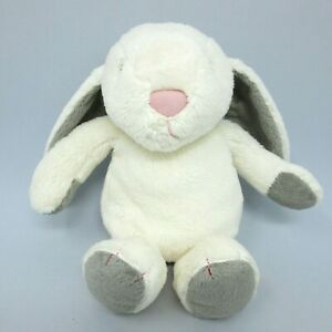 "Sainsburys Grow Play bunny rabbit soft toy plush comforter cream grey ears 10"""