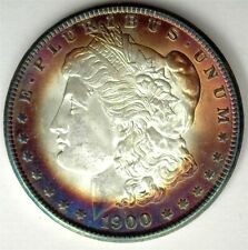 1901 MORGAN SILVER DOLLAR GEM UNCIRCULATED+ REAL NICE COLORING!
