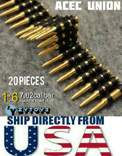 ZY TOYS 1/6 Scale 7.62 Caliber 20PCS Metal Machine Bullet Chain - U.S.A. SELLER
