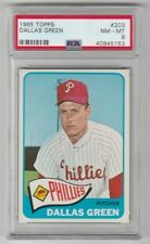 1965 TOPPS BASEBALL CARD #203 DALLAS GREEN !! PSA 8 NM - MT !! PHILLIES !!