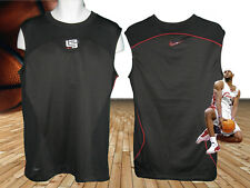 NOUVEAU Nike Lebron T SHIRT MAILLOT BASKETBALL NWT NOIR ROUGE LOGO M