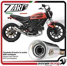 Zard exhaust steel silencer racing for Ducati Scrambler 400 Sixty2 2016>