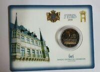 Coincard mit 2 Euro Gedenkmünze Luxemburg 2018 -  Mzz Brücke
