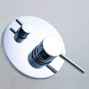 Two Function Brass Single Handle Diverter Shower Bathroom Wall Flick Mixer Value