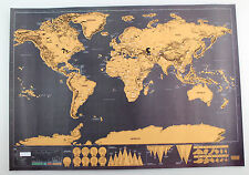 Nice Portable Travel Edition Scratch Off World Map Poster Personalized Journal