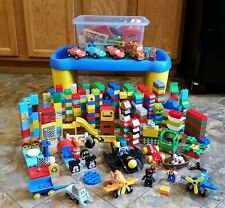 HUGE LOT LEGO DUPLO BATMAN CATWOMAN PEOPLE TABLE DISNEY McQUEEN Megablok Cars