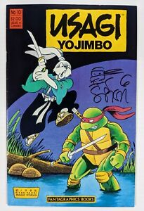 Usagi Yojimbo Vol 1 #10 Fantagraphics TMNT Leonardo 1st Appearance Jei Signed