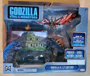 King of the Monsters Burning Godzilla and Mothra Mini figure set Jakks Pacific