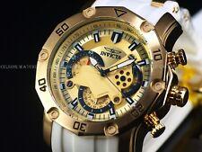 Invicta Mens Pro Diver Scuba Master Of Oceans Quartz Chrono 18K Gold IP SS Watch