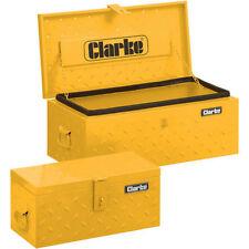 Clarke 2 Piece Truck Toolbox Set Diamond Plate Steel Water Resistant Seal CC6748