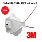 3M™ Aura 9332+ FFP3 Atemschutzmaske Wiederverwendbar 9320+ FFP2 Mundschutz 9330+