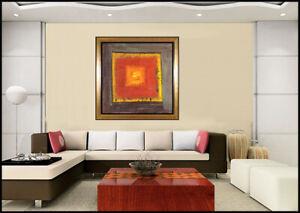 JAMALI Large Original Pigmentation Painting On Cork Modern Abstract Signed Art