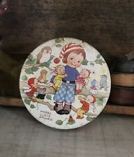 """VINTAGE HUNTLEY & PALMERS BISCUIT TIN  - """"LITTLE FRIENDS"""" by Mabel Lucie Attwell"""
