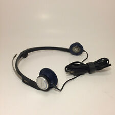 Rare Aiwa HP-M5 Original Walkman Cobalt Foldable Headphones Vintage
