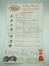 BELL STAR VINTAGE 70's ORIGINAL BROCHURE Pamphlet HELMET 120 Visors Peak RT