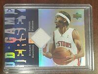 2006-07 Reserve Game Jersey #UD-RH Richard Hamilton Detroit Pistons Card