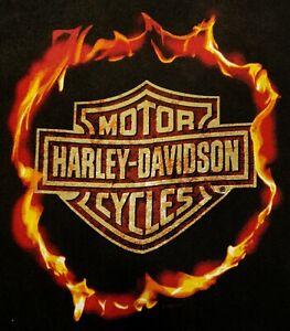 Vintage Harley-Davidson - Molten Fire California USA- Mens X-Large Tank T Shirt