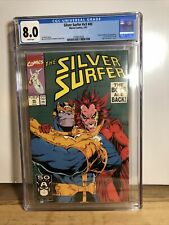 Silver Surfer v3 #45 CGC 8.0 WHITE Pages Thanos Mephisto Jim Starlin!