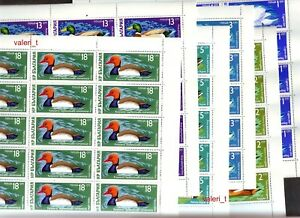 1976 Bulgaria Birds Waterfowl full set on 6 sheets VERY RARE  MNH ** 7 photos