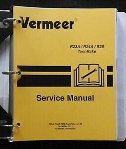 GENUINE VERMEER R23A R24A R28 TWIN RAKE SERVICE REPAIR MANUAL VERY NICE SHAPE
