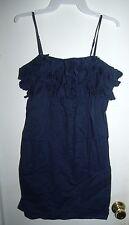 J. Crew Blue Spaghetti Strap Dress Sundress Size S Small