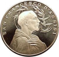SAINT FRANCIS of ASSISI & Porziuncola Church in Basilica Christian Medal i63554
