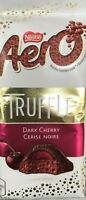AERO DARK CHERRY TRUFFLE KING SIZE CHOCOLATE BAR 85g - MADE IN CANADA