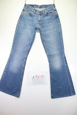 Levi's 544 Flare Bootcut (Cod.J808) Tg42 W28 L36 jeans used SHORTENED vintage