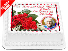Personalised Your Photo Edible Icing Image 80th Birthday Cake Topper