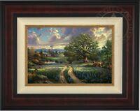Thomas Kinkade Country Living 12 x 18 LE G/P Canvas (Burl Frame)