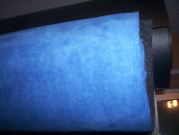 """38"""" x 61"""" Suede Headliner Upholstery Fabric with foam backing Brite Blue Suede"""