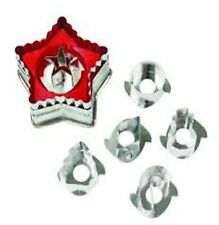 Wilton Linzer Cookie Cutter Set Christmas Fluted Star + 6 Shapes Holiday Baking