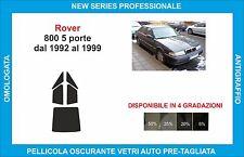 pellicole oscuranti vetri rover 800 5p  dal 1992-1999 kit posteriore