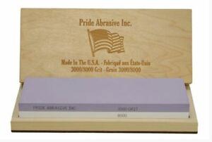 Pride Abrasive 3000/8000 Water Stone Whetstone knife sharpener Quality USA made