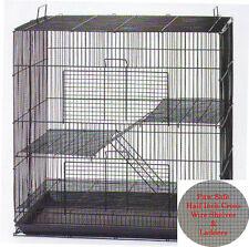 3 Level Ferret Chinchilla Sugar Glider Rat Mice W/Cross Shelves & Ladders 354