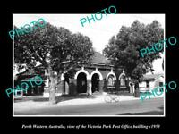 OLD LARGE HISTORIC PHOTO OF VICTORIA PARK WESTERN AUSTRALIA POST OFFICE c1950