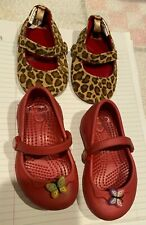 LOT OF GIRLS SIZE 4 TODDLER SHOES CROCS & GYMBOREE MARY JANES NWOT PLEASE READ