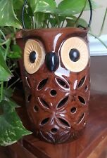"""Ceramic OWL Candle Holder 6.3/4 """" x 4"""" Free Candle & free shipping  Brand New"""