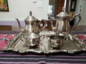 Silver-plated Tea & Coffee Service -5 Pieces