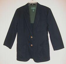 LAUREN Ralph Lauren sz 6 100% Cotton Navy Blue Jacket Blazer Logo CLEANED Ready2
