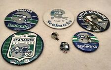 Vintage Lot Of Seattle Seahawks Football NFL Pins And Buttons Estate Find