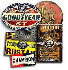HOT ROD STICKERS, BY VOODOO STREET™, waterproof vinyl, quality, rat, Goodyear